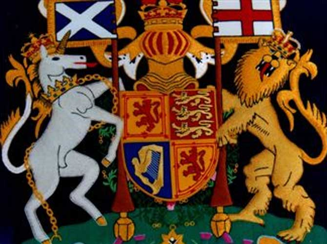 Muirgroup Interiors Glasgow Embroidered Coats Of Arms